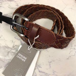 H&M Women's Genuine Leather Woven Belt